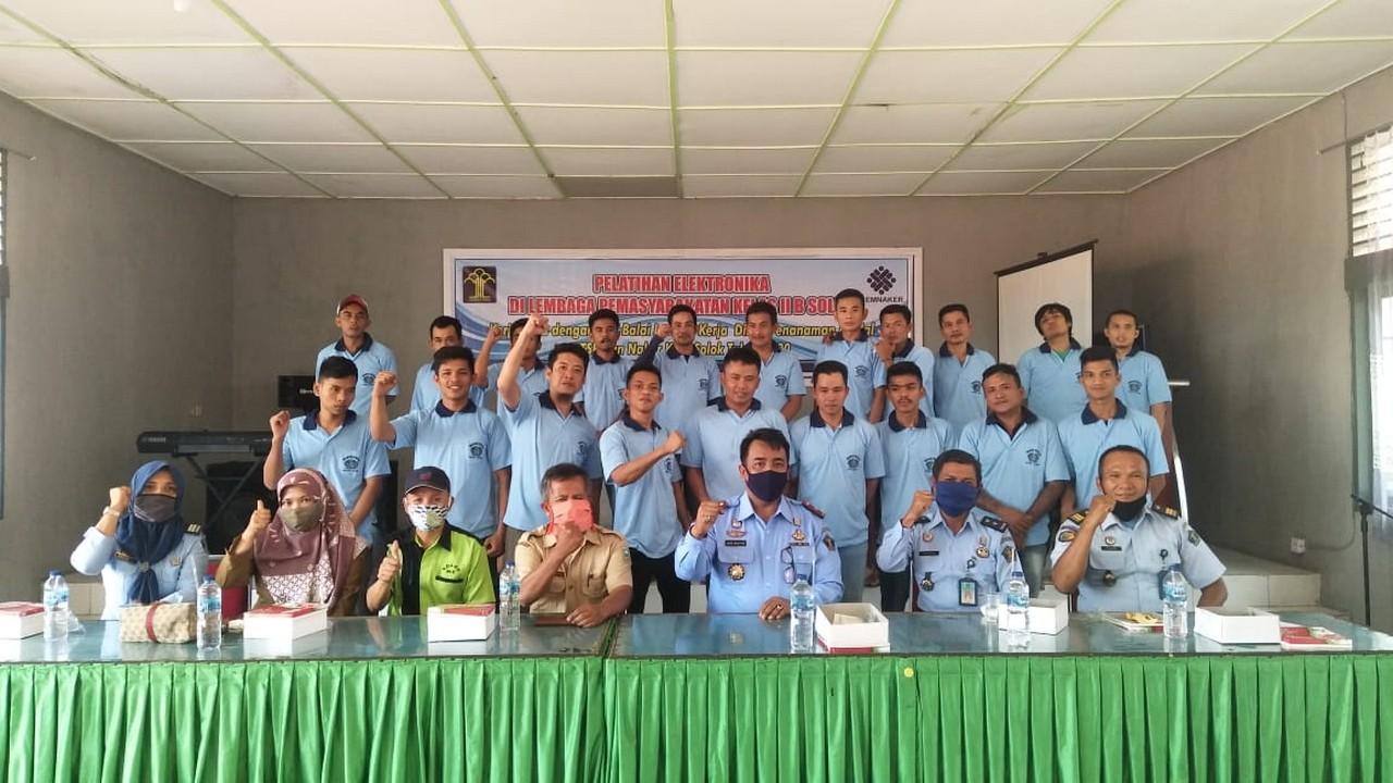 Pembukaan Pelatihan Program Elektronika Lapas Kelas II B Solok